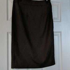 Dark tan pencil skirt